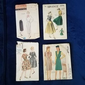 Vintage sewing patterns (1940s to late 1950s)